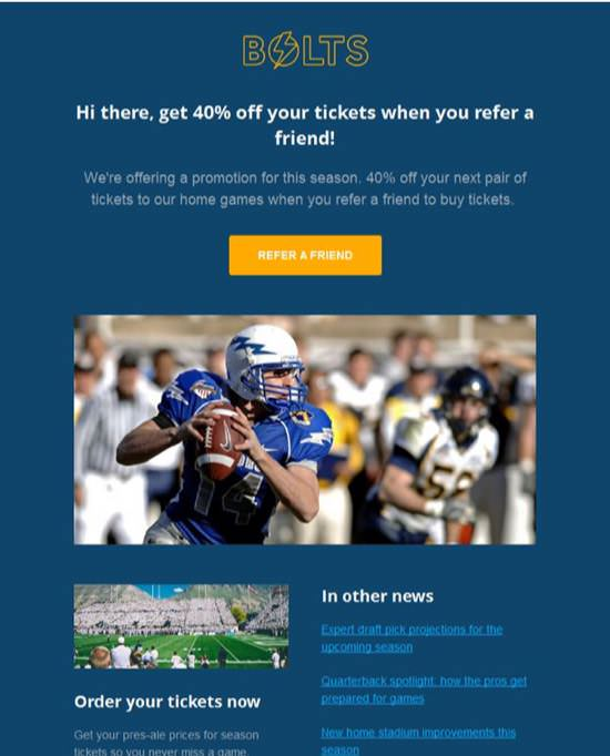 Bolts Deals-offers Email Template