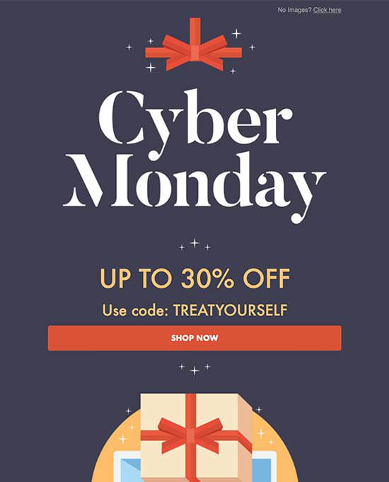 Cyber Monday Holiday Email Template