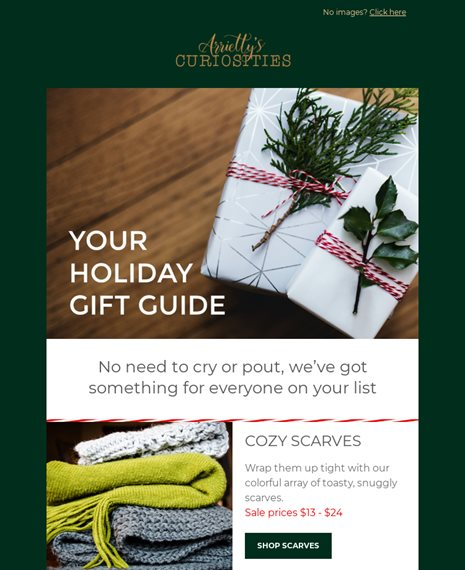2020 Gift Guide Holiday Email Template