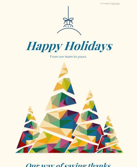 Holiday Card Holiday Email Template