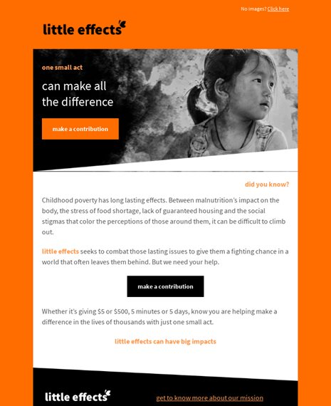 Non-profit Donation Newsletters Email Template