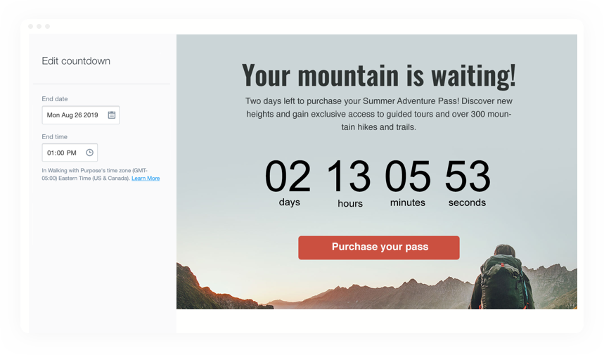 Countdown Feature