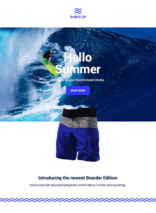 Email Template Builder - Surfs Up