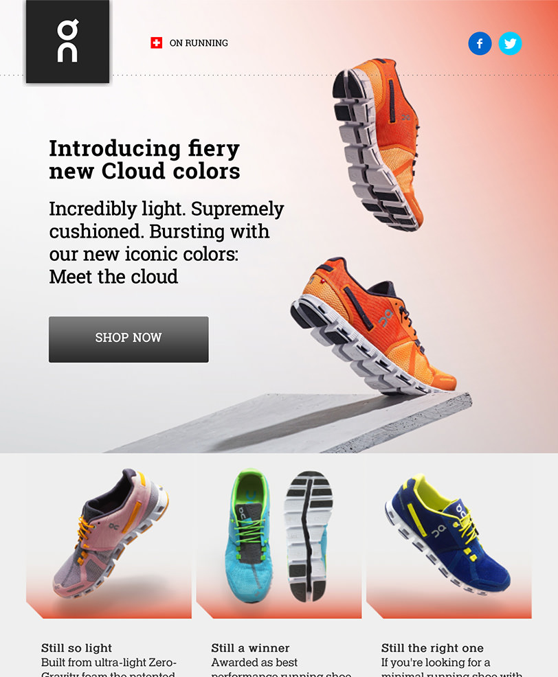 Email Marketing - On Running Announcement Email