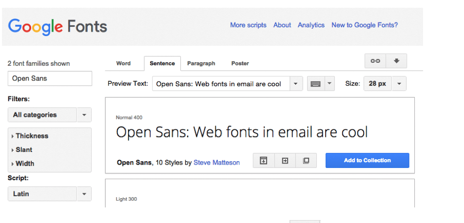 web fonts in email