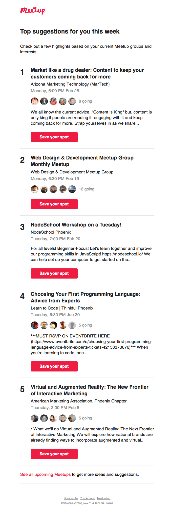 Meetup invite email example