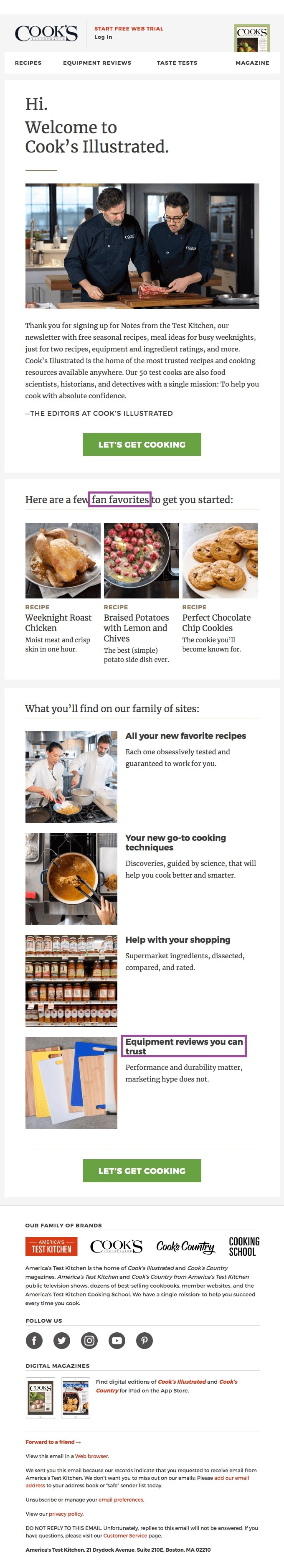 Some of the best examples of non-sales-related user-generated content comes in the form of recipes shared amongst the culinary industry.