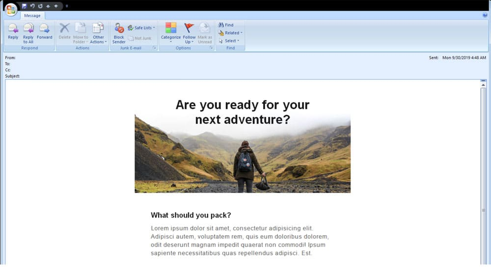 outlook rendering with a bulletproof background