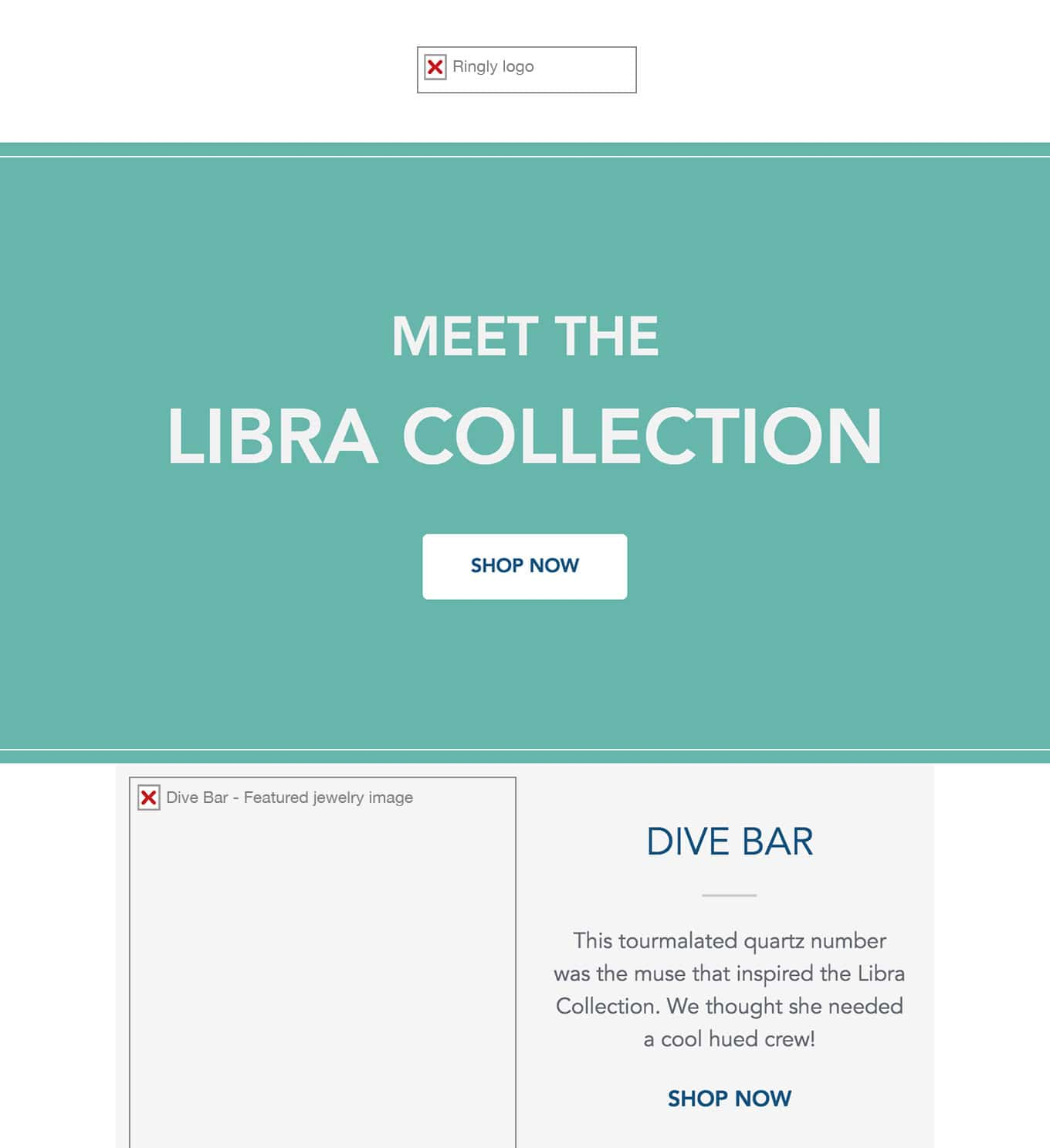 Dive Bar – Email Design – Images and Alt Text