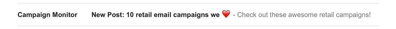 Campaign Monitor - emoji in subject lines