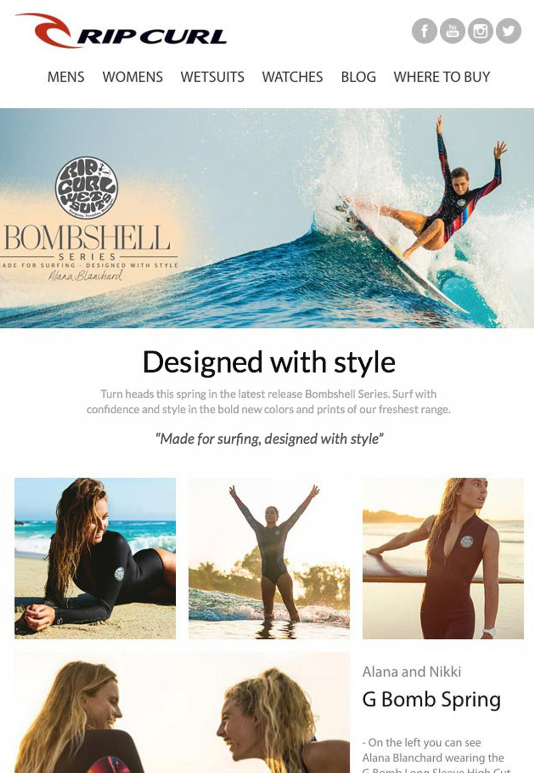 email marketing and automation examples - ripcurl email example