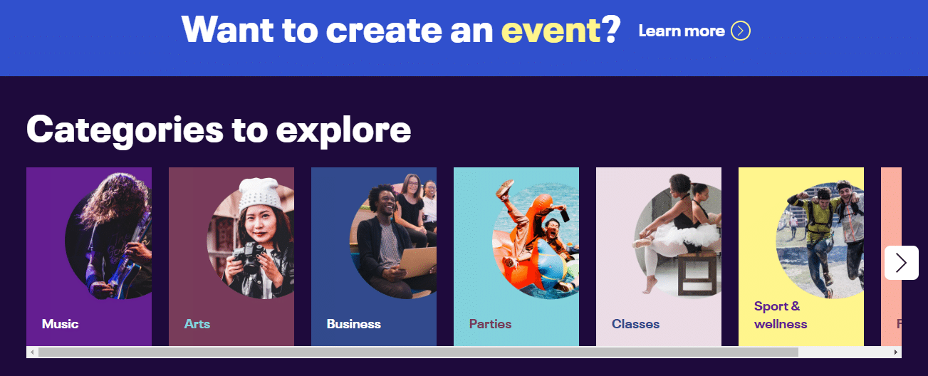 Eventbrite is a platform that helps you organize live events and experiences.