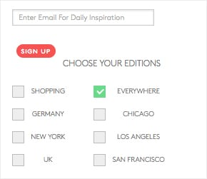 Refinery 29 – Email Segmentation – Sign Up Forms