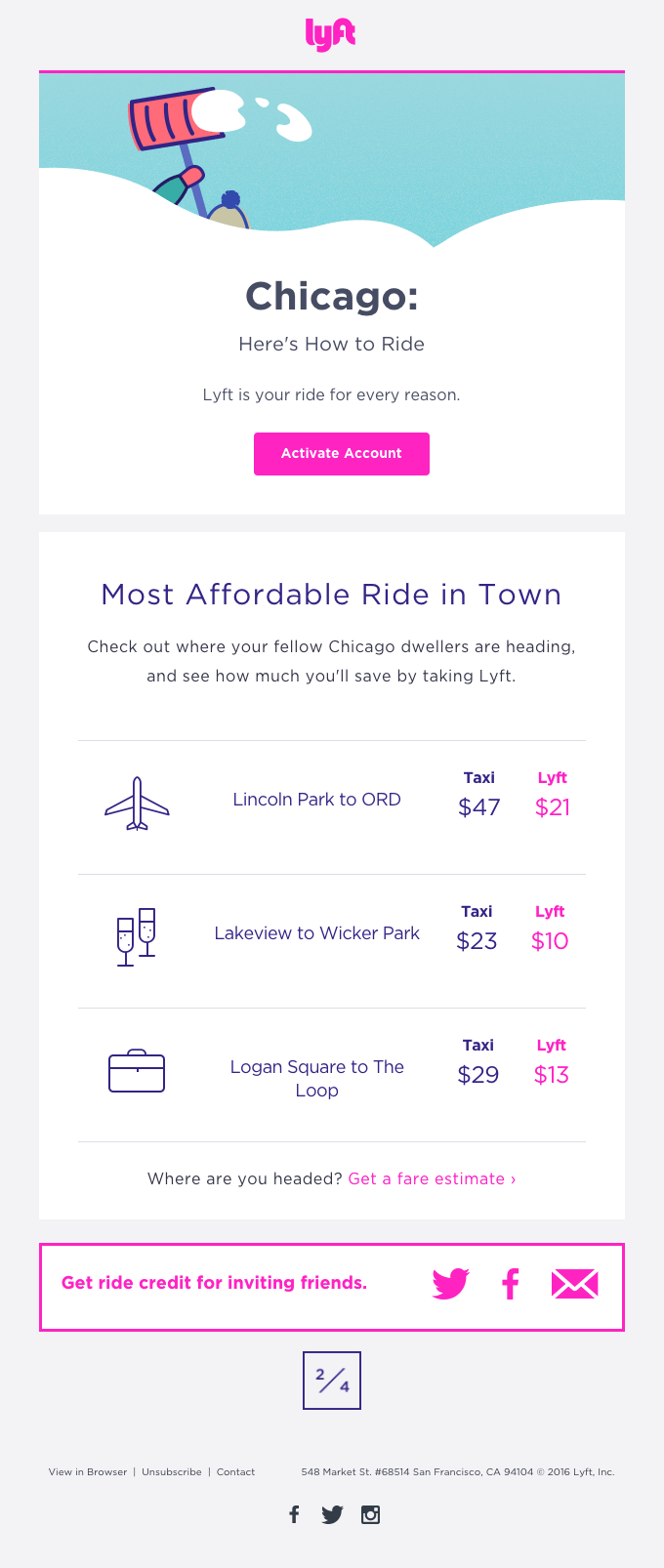 Lyft - web fonts for email