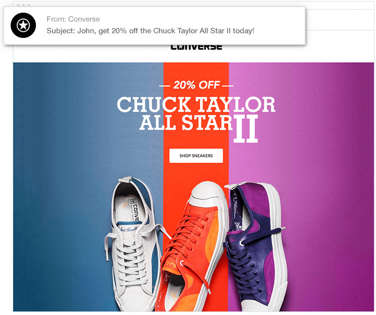 Converse Subject line personalization