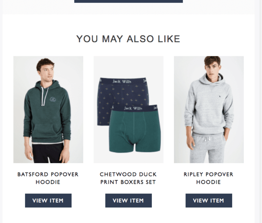 Jack Wills – Email Marketing – Cart Reminders
