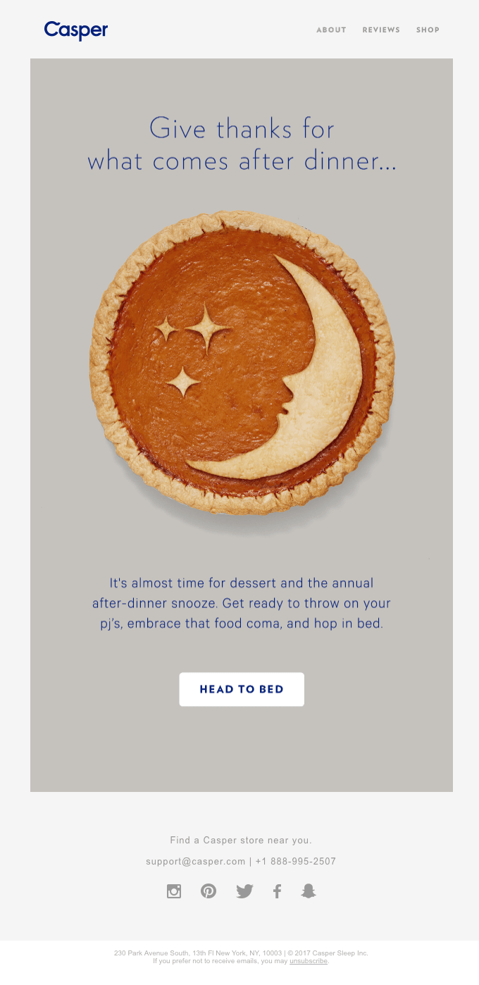 thanksgiving email campaigns