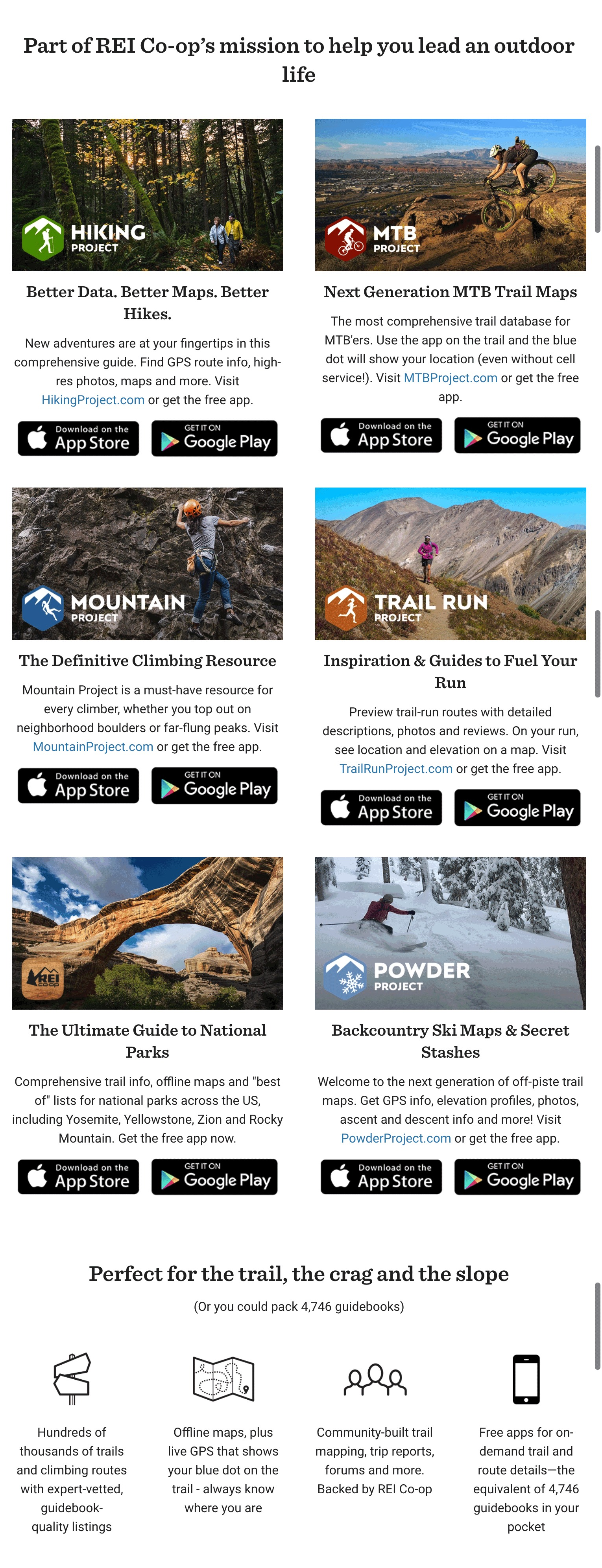 positively good marketing REI guides