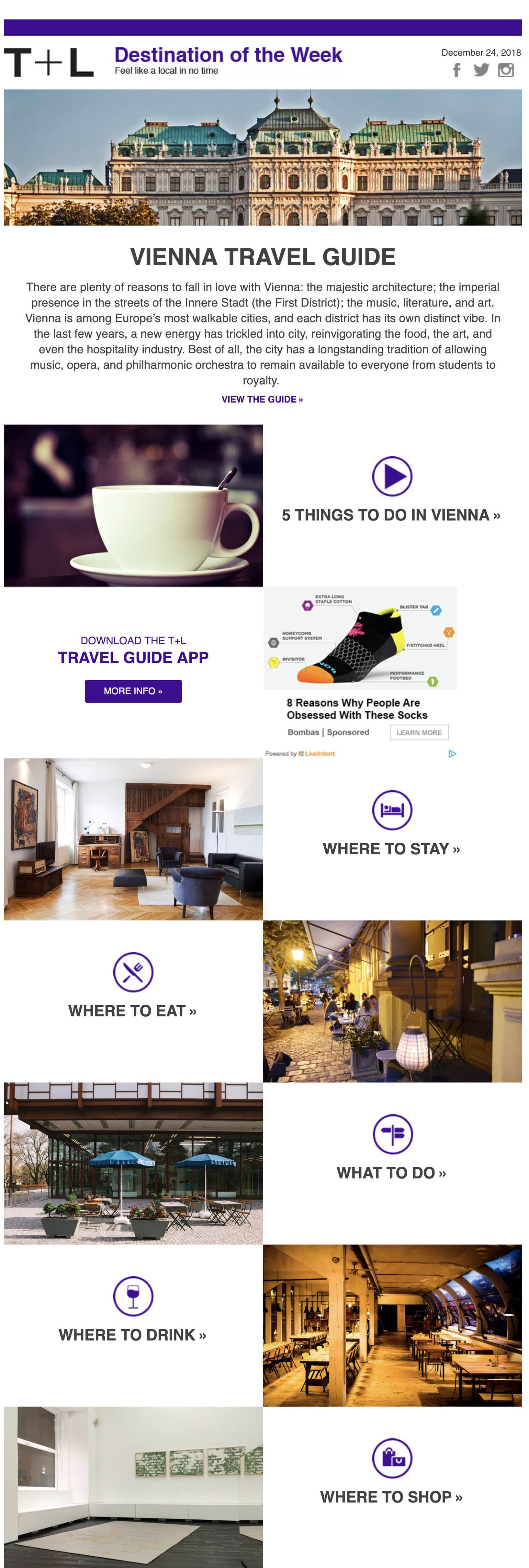 Travel + Leisure email