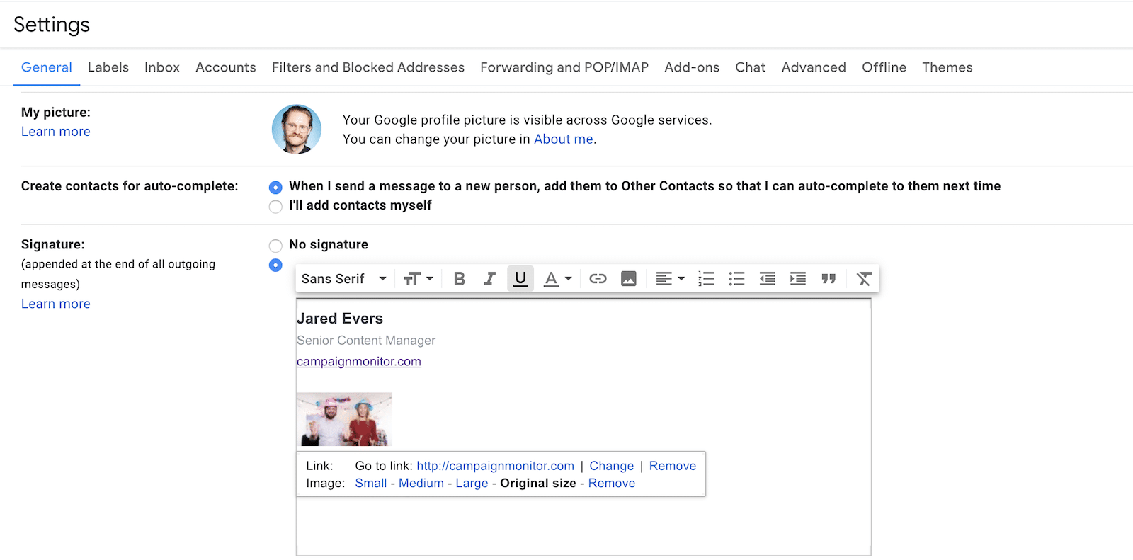 embed video in email signature example