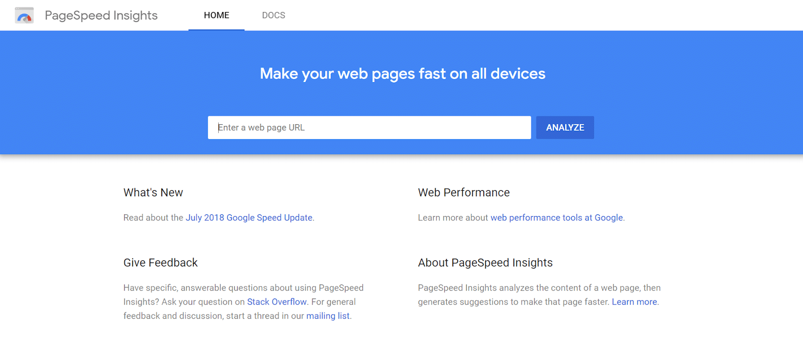 PageSpeed Insights screenshot - SEO for seasonal small businesses