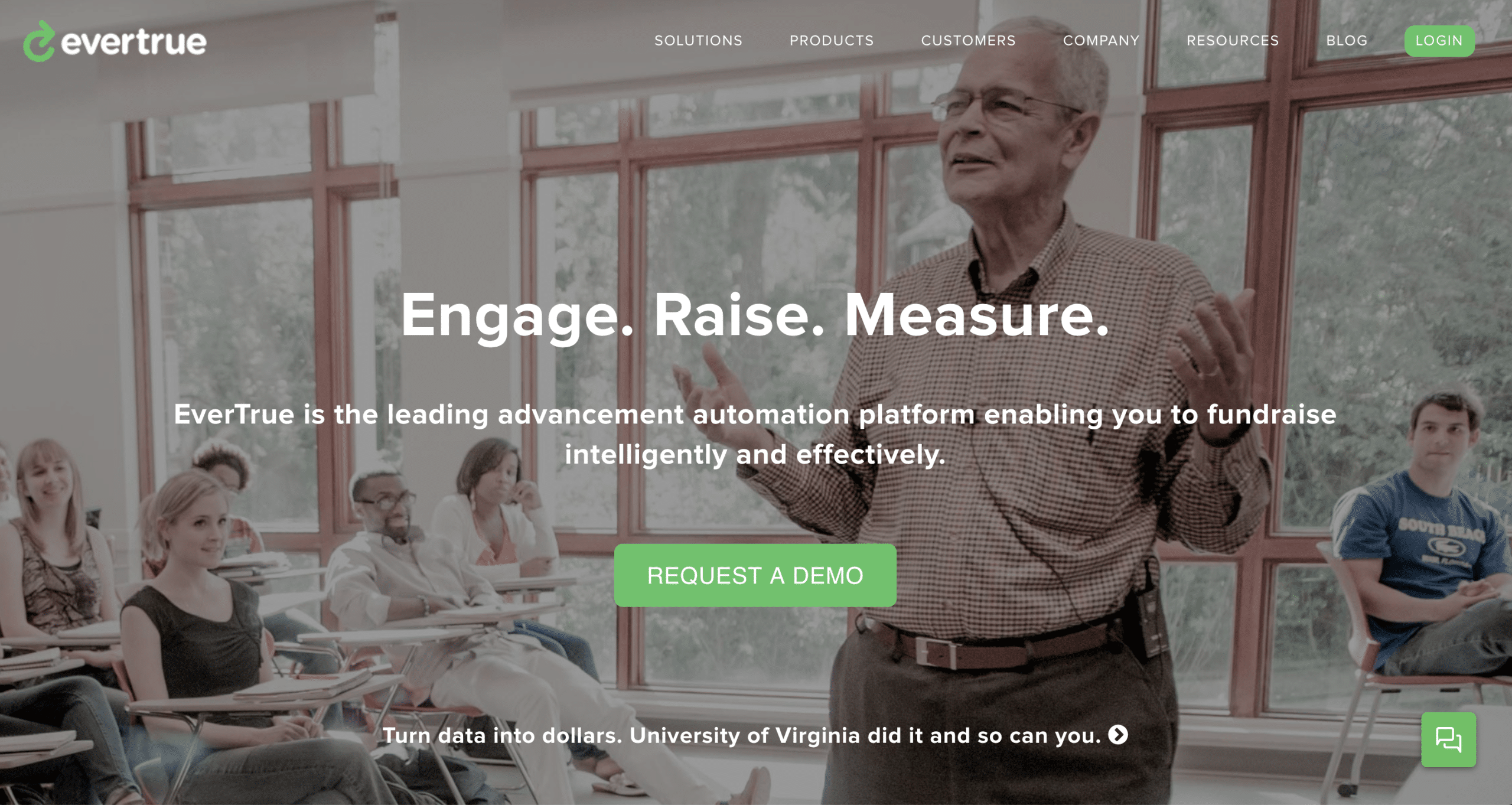 EverTrue landing page example shows short and to-the-point copy