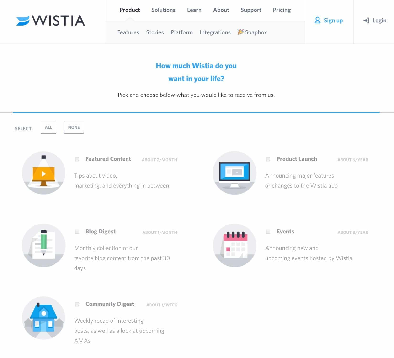 Wistia develops email preference center